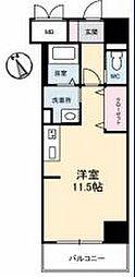 JR高徳線 栗林公園北口駅 徒歩6分の賃貸マンション 4階ワンルームの間取り