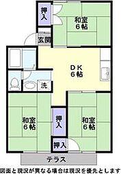 レークハイツ地蔵[2階]の間取り