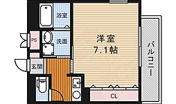 大阪モノレール彩都線 豊川駅 徒歩2分の賃貸マンション 1階1Kの間取り