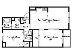 トリヴァンベールS[3階]の間取り