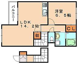 プラムガーデン弐番館[2階]の間取り
