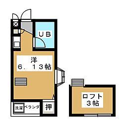 シェルコート伊勢崎[1階]の間取り
