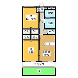 プレステージ ジン[1階]の間取り