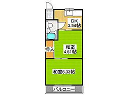 平尾マンション[2階]の間取り