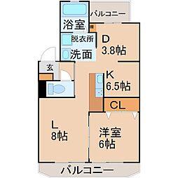 浦里第一マンション[3階]の間取り