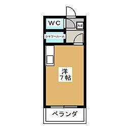 コーポK[7階]の間取り