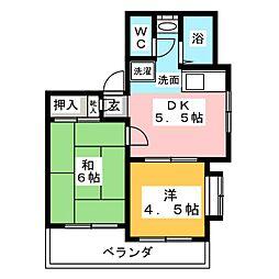 クオーレ稲島[3階]の間取り