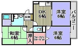 パークハウス一・二番館[2-102号室]の間取り