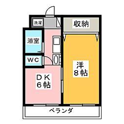 レジデンスカープ水戸[4階]の間取り