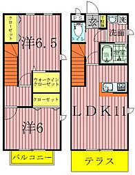 [テラスハウス] 千葉県流山市大字西平井 の賃貸【/】の間取り