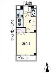愛知県日進市米野木台2丁目の賃貸アパートの間取り