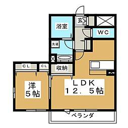 D'room八乙女中央 A棟[3階]の間取り