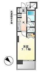 カーサプラスアルファ名駅南[4階]の間取り