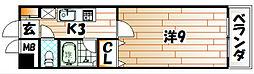 グッタープラッツ緑ヶ丘2番館[2階]の間取り