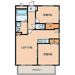アムールTMkeishi[102号室]の間取り
