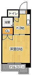 サンライズマンション[303号室]の間取り