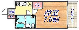 セレニテ神戸西クレア 10階1Kの間取り