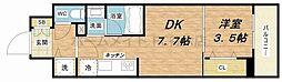 Larcieparc新大阪[2階]の間取り