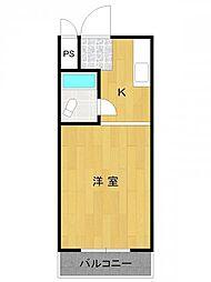 兵庫県尼崎市西立花町3丁目の賃貸マンションの間取り