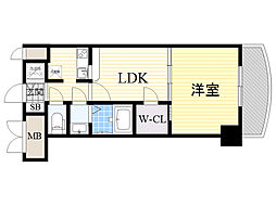 ノルデンタワー新大阪アネックス 19階1LDKの間取り