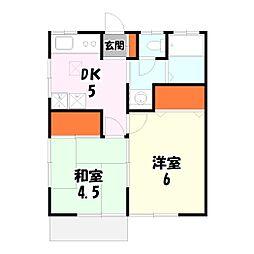 ユーカリハイツ[2階]の間取り