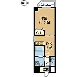 クオリア壱番館[2階]の間取り