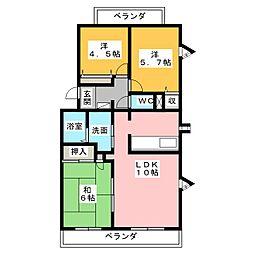 シャントクレール[2階]の間取り