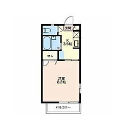 富竹アパートメント[2階]の間取り