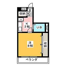 ハウス壱番館[3階]の間取り