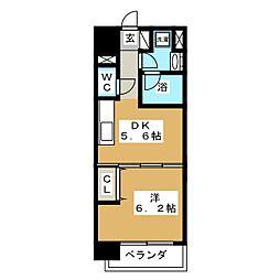 カルロ定禅寺通[9階]の間取り