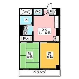 クレセール八本松[3階]の間取り