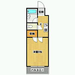 パーパス紫竹[3階]の間取り