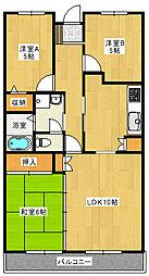 プラーナタウン403[4階]の間取り