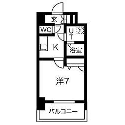 名古屋市営鶴舞線 大須観音駅 徒歩7分の賃貸マンション 3階1Kの間取り