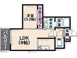 カメリアガーデン[2階]の間取り