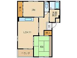 KK21[1階]の間取り