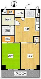 神奈川県横浜市南区通町4丁目の賃貸マンションの間取り