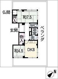 長平閣[4階]の間取り