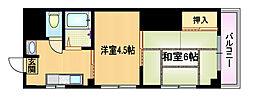 エクセレントII都島山崎[5階]の間取り