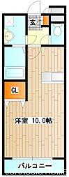 大阪府堺市北区大豆塚町2丁の賃貸マンションの間取り