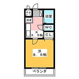 長谷川12番館[2階]の間取り