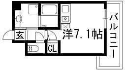 兵庫県伊丹市荒牧南3の賃貸マンションの間取り