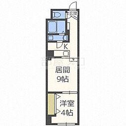 北海道札幌市中央区北一条東2丁目の賃貸マンションの間取り