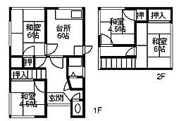 [一戸建] 石川県金沢市山科1丁目 の賃貸【/】の間取り