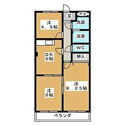 クリーンハイツ安井[3階]の間取り