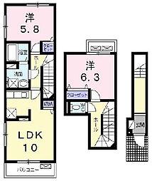ラ・カーサ・フェリーチェ[2階]の間取り