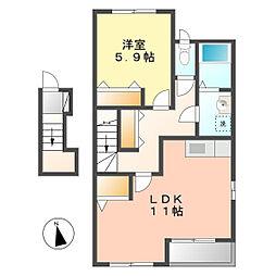 サニーガーデン[2階]の間取り