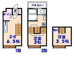 キャリコハウス2[215号室]の間取り