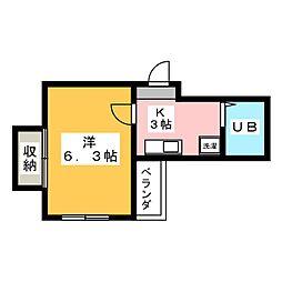 ルミシアII[4階]の間取り