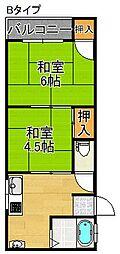 マンションアキラ[4階]の間取り